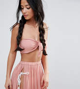 Asos Beach Bandeau Top with Twist Front Co-ord