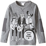 Little Marc Jacobs Long Sleeve Rock House Illustration Tee Shirt Boy's T Shirt