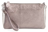 Street Level Junior Women's Leather Crossbody Bag - Metallic