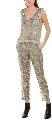 The Kooples Western Flowers Silk-Blend Jumpsuit