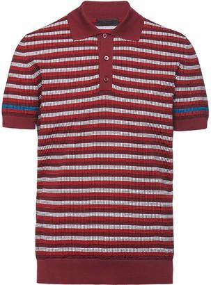 Prada Waffle-Knit Polo Shirt