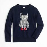 J.Crew Boys' softspun robot crewneck sweater