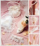 Mccall's 2058 Sewing Pattern Alicyn Exclusives Wedding Accessories Garter Purse Ring Pillow by