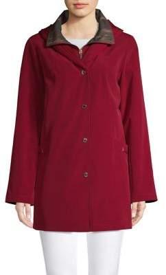 Gallery Petite Pleated Collar Raincoat