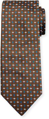 Brioni Men's Alternating Ovals Silk Tie