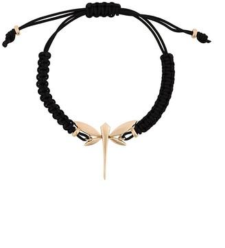 Anapsara 18kt Rose Gold Dragonfly Rope Bracelet