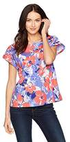 Nautica Women's Short Sleeve Floral Printed Top