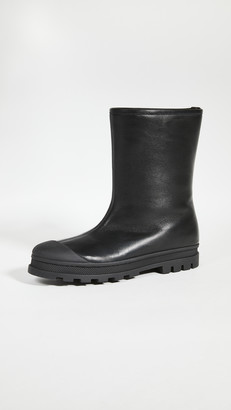 Marni Leather Rubber Boots