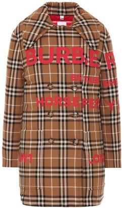 Burberry Check cotton down coat
