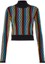 Diane von Furstenberg Color-Block Ribbed Wool-Blend Turtleneck Sweater