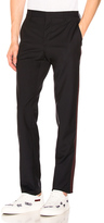 Valentino Side Band Trousers in Black.