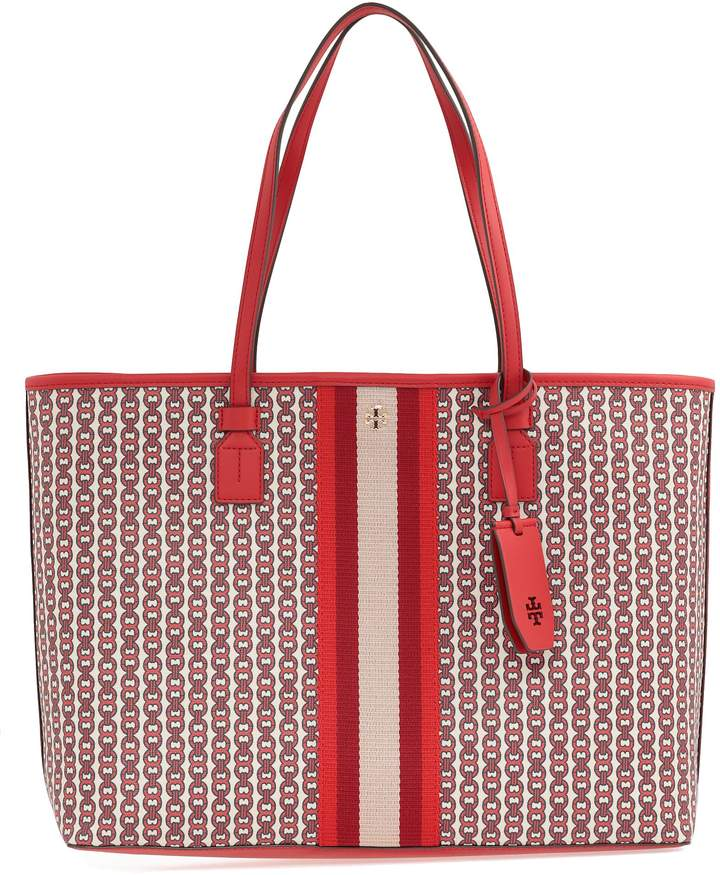 8c502ee8b Tory Burch Gemini Link Coated Canvas Tote - ShopStyle