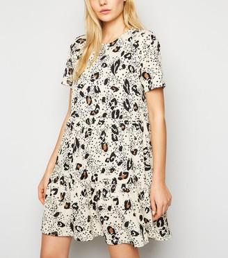 New Look Animal Print Smock Mini Dress