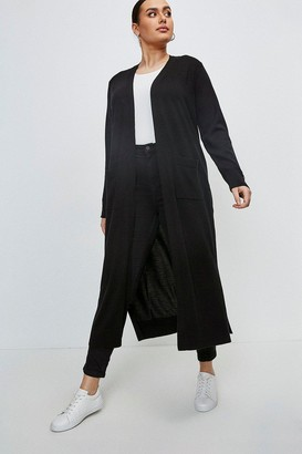Karen Millen Curve Merino Wool Longline Cardigan