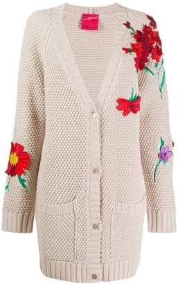 Blumarine floral-appliquéd cardigan