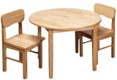 Gift Mark Round Table & Two Chair Set-Nat