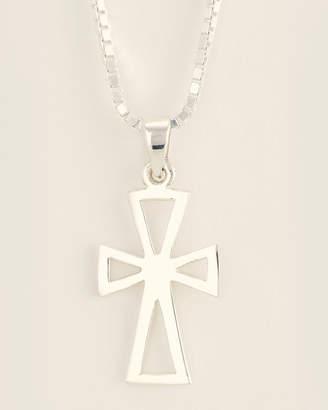 Jean Claude Silver-Tone Order of Malta Pendant Necklace