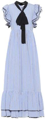 MSGM Ruffled striped dress
