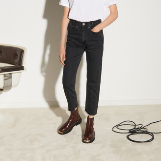 SandroSandro Straight-cut jeans with raw edges