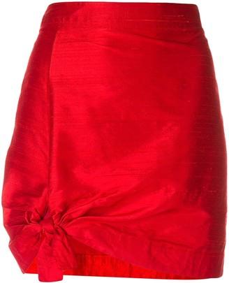 Giorgio Armani Pre Owned Tie Detail Mini Skirt