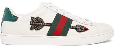 f7f1b1db908 Gucci Ace Leather Sneakers - ShopStyle