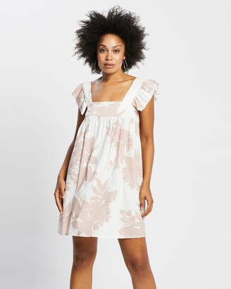 Reverse Women's Pink Mini Dresses - Ruffle Sleeve Mini Dress - Size XS at The Iconic