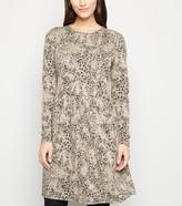 New Look Leopard Jacquard Smock Dress