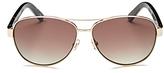 Kate Spade Dalia Polarized Brow Bar Aviator Sunglasses, 57mm