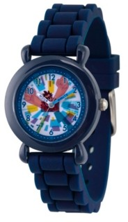 EWatchFactory Boy's Disney Ralph Breaks The Internet Wreck-It Ralph Blue Plastic Time Teacher Strap Watch 32mm