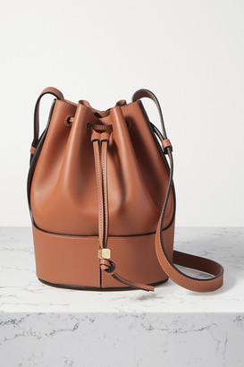 Loewe Balloon Small Leather Bucket Bag - Tan