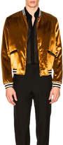 Saint Laurent Velvet Bomber Jacket