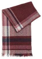 HUGO BOSS Bouclé virgin wool blend checked scarf