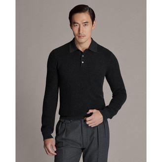 Ralph Lauren Birdseye Cashmere Polo Sweater