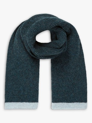 Brora Cashmere Ribbed Throat Warmer Scarf