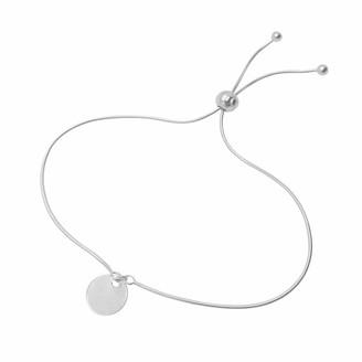 Circle Disc Bracelet Sterling Silver