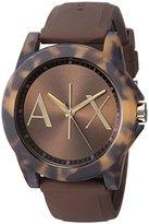 Armani Exchange Women's AX4341 Tortoise Brown Silicone Watch