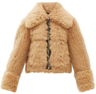 Joseph Neal Reversible Shearling Bomber Jacket - Womens - Beige