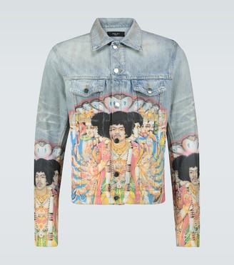 Amiri Jimi Hendrix printed trucker jacket