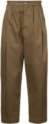 Hed Mayner cropped high waisted trousers