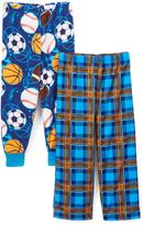 Komar Kids Blue Sports & Plaid Pajama Pants Set - Boys