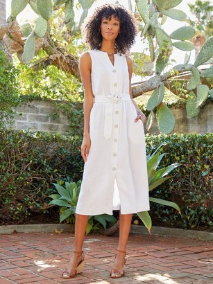 J.Mclaughlin Bettina Linen Midi Dress
