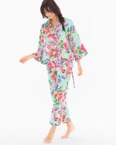 Soma Intimates Star Blossom Mandarin Satin Pajama Set
