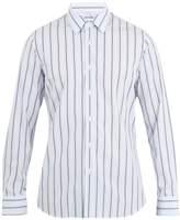 Prada Single-cuff striped-cotton shirt