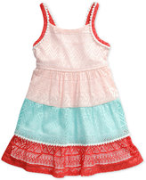 Sweet Heart Rose Crochet Lace Panel Dress, Toddler and Little Girls (2T-6X)