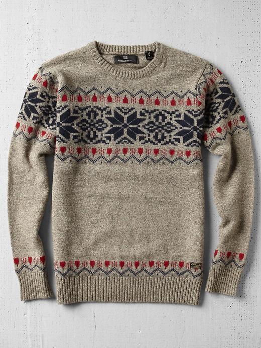 Scotch & Soda Fair Isle Snowflake Crew Neck Sweater