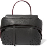 Tod's Wave Medium Textured-leather Tote - Dark gray