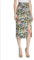 Cushnie et Ochs Floral Front-Slit Pencil Skirt