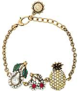Gucci Crystal Fruit Charm Bracelet