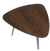 Bronx Maison End Table Ivy Table Base Color: Polished Metal, Table Top Color: Walnut