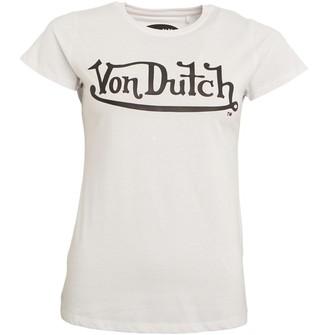 Von Dutch Womens Solar Crew T-Shirt White/Black